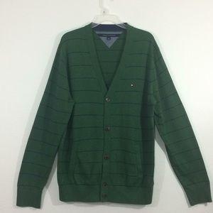 NWOT Tommy Hilfiger hunter green cardigan-XL